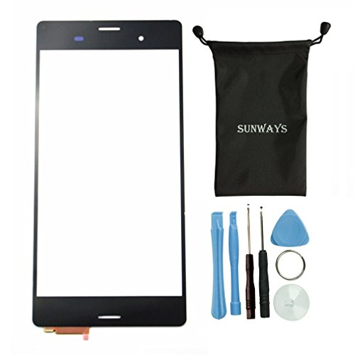 Sunways Black Color Touch Digitizer Screen Replacement For Sony Xperia Z3 L55T L55U D6653 D6633 D6603