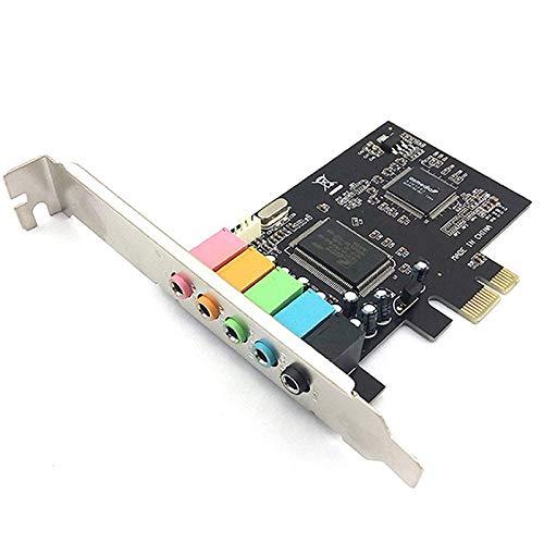 Baalaa 5.1 Interne Geluidskaart voor PC Windows 10 met Laag Profiel Beugel, 3D Stereo PCI-E, CMI8738 Chip 32/64 Bit…