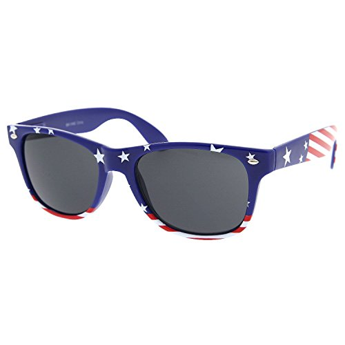 grinderPUNCH USA American Flag Sunglasses Stars and - Band Wayfarer Ray