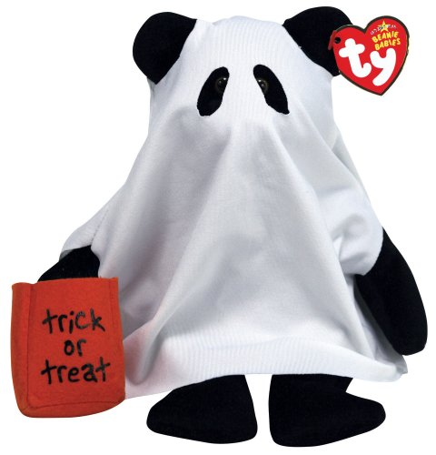 Ty Beanie Babies Shudders Bear as Ghost -