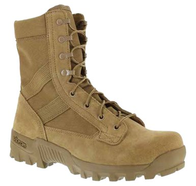 Coyote Leather - Reebok Mens Coyote Leather Tactical Boots Spearhead 8in Hot Weather 6.5 M
