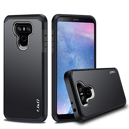 J&D Case Compatible for LG G6 / LG G6 Plus Case, Heavy Duty [Dual Layer] Hybrid Shock Proof Protective Rugged Bumper Case for LG G6 Plus, LG G6 Case - Black