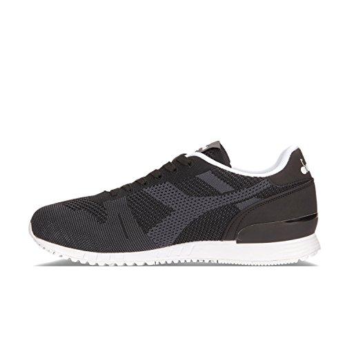 Uomo Sneaker Nero Titan Diadora Weave 80013 YAP4R6