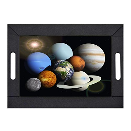 Rikki Knight Solar System Planets PU Lay Flat Foldable Design Serving Tray by Rikki Knight