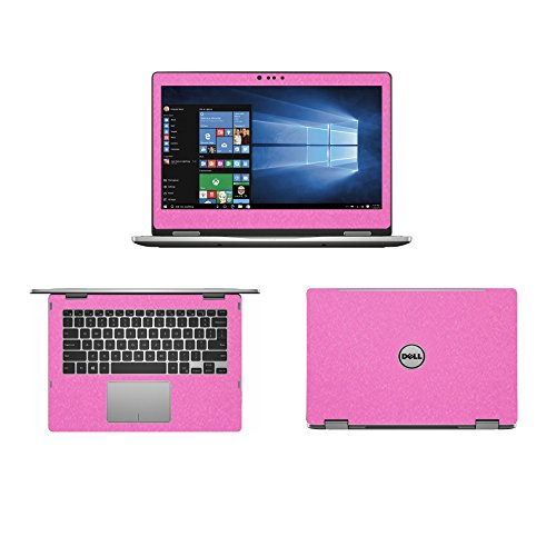Sparkling Pink Fiber skin decal wrap skin Case for Dell inspiron 13 7000 series 7368 13.3 2 in 1 Laptop