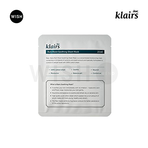 KLAIRS-Rich-Moist-Soothing-Mask-10-sheets-mask-sheet-moisturizer-23ml