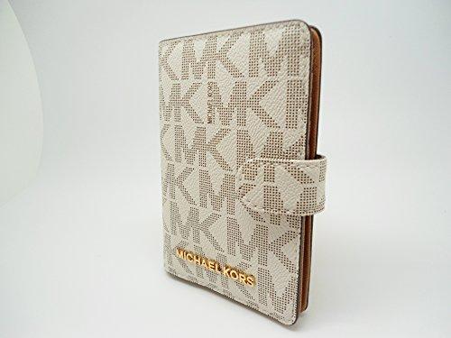 da41745455b21 Michael Kors Jet Set Travel Passport Case Wallet Vanilla Acorn 0072