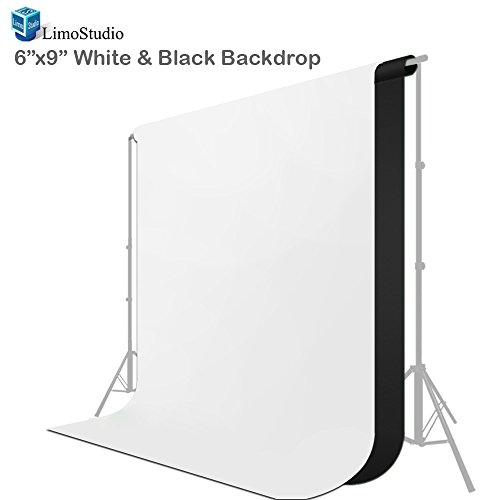 LimoStudio, AGG1893, Black and White Chromakey Photo Video Photography Studio Fabric 6 Foot X 9 Foot Backdrop Background Screen by LimoStudio