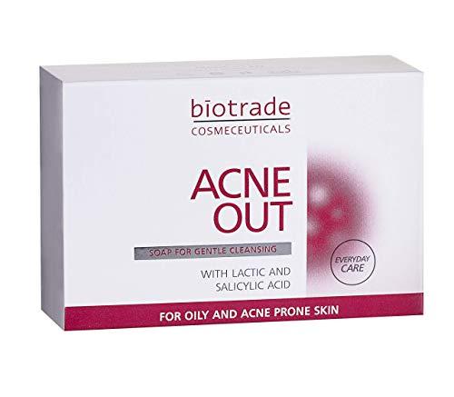 Acne Out Seife 100g für Fettige Haut Mit Pickel Beseitigt Mitesserund Unvollkommenheiten Verfeinert Die Poren Von Biotrade
