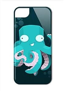 Case Fun Apple iPhone 5 / 5S Case - Vogue Version - 3D Full Wrap - Octopus
