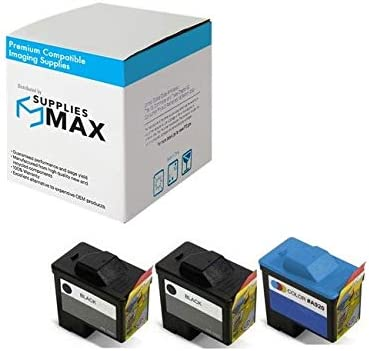 310-4142/_2PK//310-4143/_1PKMP Series 1 SuppliesMAX Compatible Replacement for Dell A720//A920 Inkjet Combo Pack 2-Black//1-Color