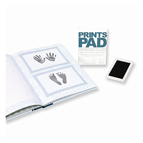 ICE CARATS Mess Free Baby Prints Ink Pad Brag Book Memory H Foot Print Set Fashion Jewelry Gifts for Women for Her ()