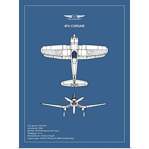 (GREATBIGCANVAS Poster Print Entitled BP CV F4U-Corsair by Mark Rogan 27