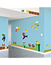 Super Mario Sticker Kinderkamer Slaapkamer Decoratie Muursticker 2 Stuks