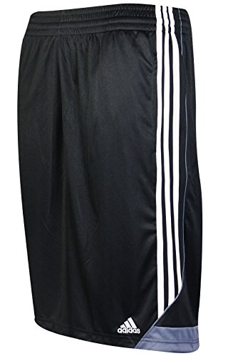Basketball Shorts Flash - adidas Men's Basketball Basic 4 Shorts, Black/White, Large