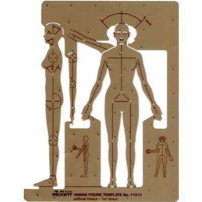 CHARTPAK Alvin 1141i Female Human Figure Template (1141I) by Chartpak