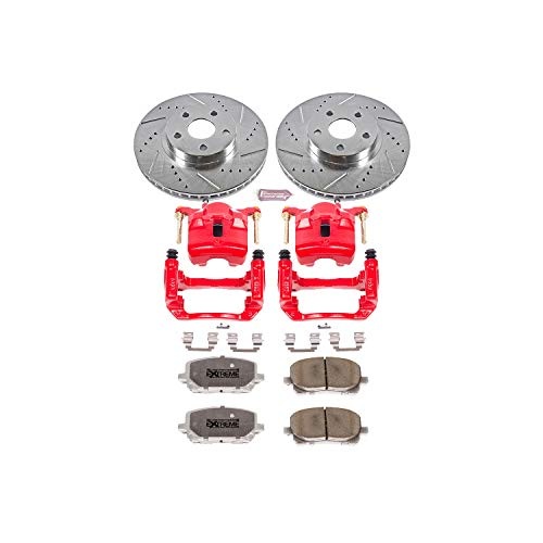 - Power Stop KC2316-26 Z26 Street Warrior Brake Kit with Powder Coated Caliper