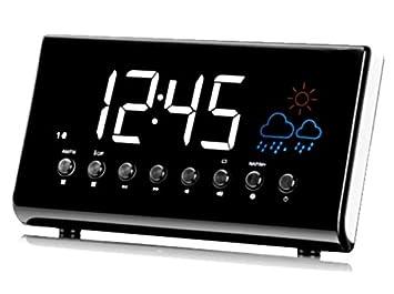 Silva Schneider UR de D 1450 WS FM Radio Reloj Despertador Alarma Pronóstico: Amazon.es: Electrónica