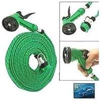 JackshowShope® Plastic 10m Water Spray Jet Gun Hose Pipe for Garden/Car/Bike/Pet Wash(Multicolour)