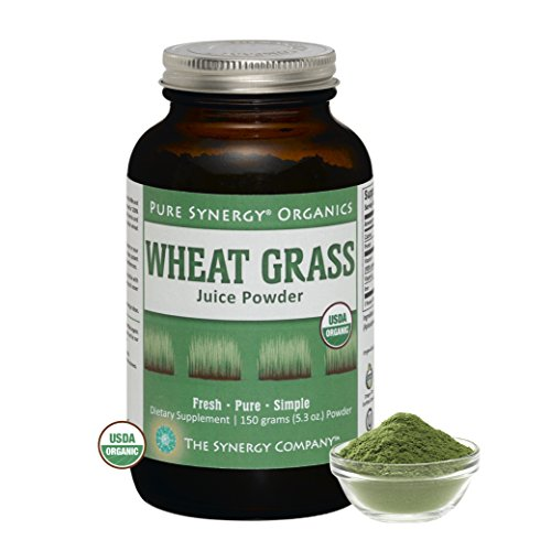 Pure Synergy Organics Wheat Grass Juice Powder USA 5.3oz 100% Certified Organic by The Synergy Company