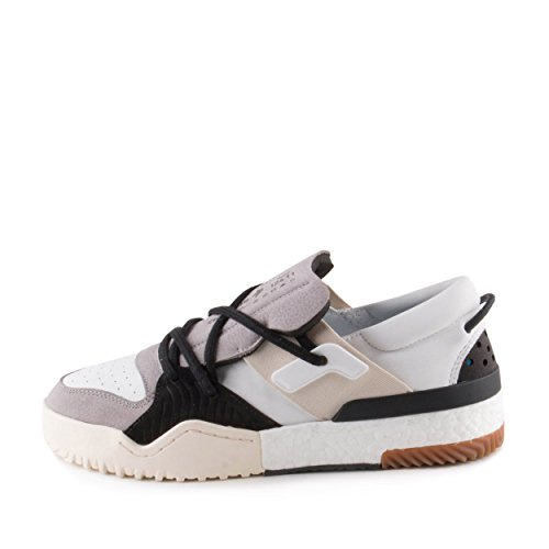 Adidas Man Alexander Wang Aw Bball Lo Vit / Svart Mocka