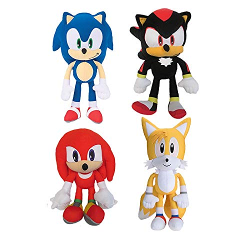 Sonic The Hedgehog Shadow Tails Knuckles 8'' Plush Toy Kids Boys Girls (Set of 4) by Kids Plush