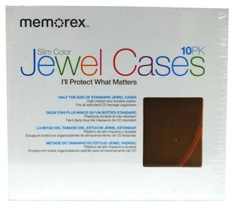 Memorex Slim Color Jewel CD Cases 10 Pack