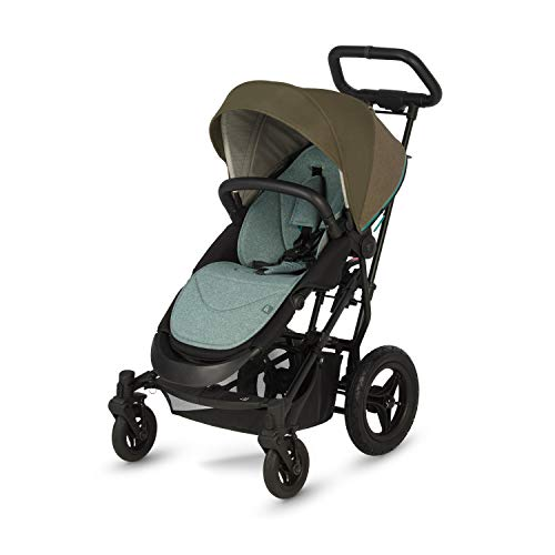 Micralite SmartFold All Terrain Travel System Stroller - Your Forever Stroller - Compact Fold, Puncture Proof Tires and Outdoor Fabrics (Evergreen)