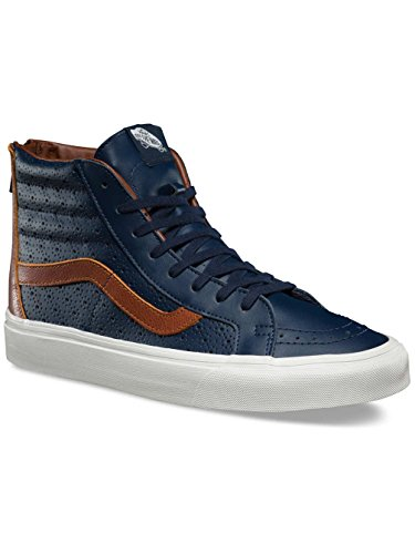Furgoni Unisex Sk8-hi Riedizione (c & P) Pattino Da Skate In Pelle Perf Dress Blues Friar Marrone