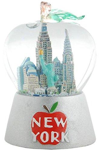 Nyc Big Apple - New York City Snow Globe 65 mm Big Apple Shaped Globe