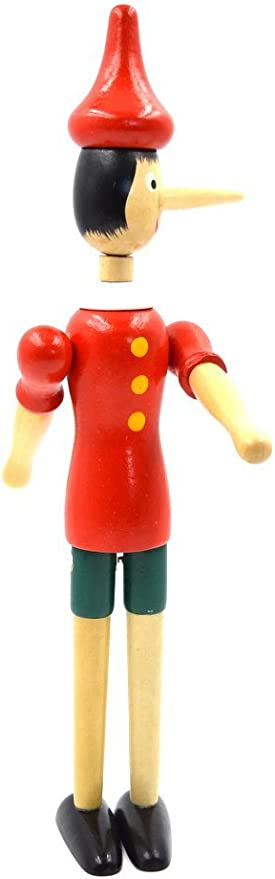 Pinocho Toy Figura Muñeca Madera Italia Marioneta Nevera Imán my-2272