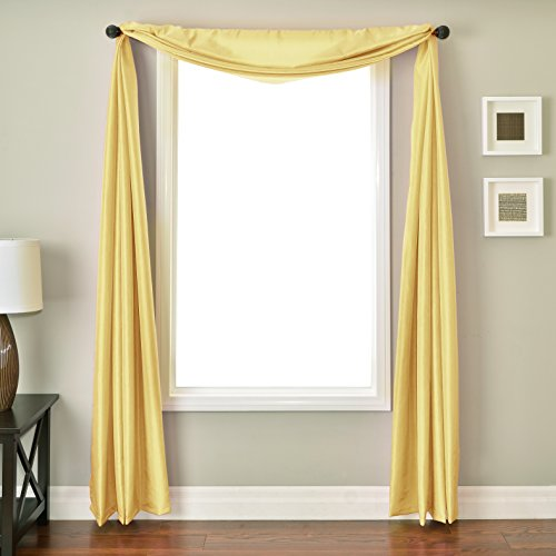 Softline Home Fashions NETHlmnSC Bella Kids 6 Yard Window Scarf, Lemon (6 Yard Window Scarf Valance)