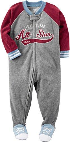 Carter's Boys' 12M-8 Bedtime All Star Fleece Pajamas Gray 18 Months ()