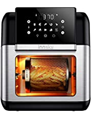 Innsky Air Fryer 10.6 Quart, Air Fryer Oven 10-in-1, 1500W Air Fryer Toaster Oven with Rotisserie & Dehydrator, Countertop Oven with LED Digital Touchscreen, 10 Presets, 6 Accessories & 32+ Recipes