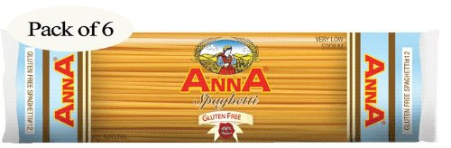 Anna Gluten Free Spaghetti, 8 Oz Package (Pack of 6) ()