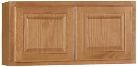 "Rsi Home Products Sales 30"" W X 15"" H X 12"" D Medium Oak Finish Assembled Wall Cabinet"
