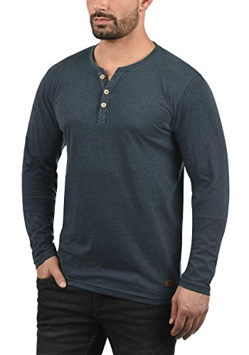 À M Manches Longues T Homme p8991 shirt solid Blu Volko Tunisien Ins wBq6ang