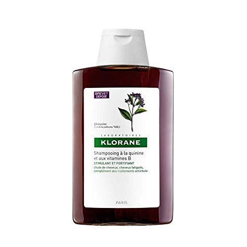 Klorane Shampoo with Quinine and B Vitamins for Thinning Hair, Support Thicker, Stronger, Healthier Hair, Men & Women,13.5 Fl oz