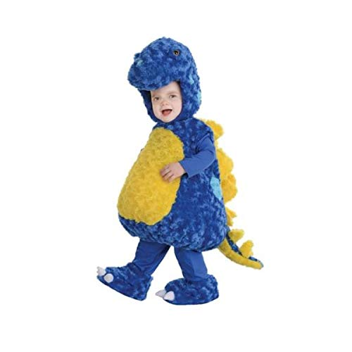 Underwraps Toddler's Stegosaurus Belly Babies Costume, Blue/Yellow, Medium (18-24) ()