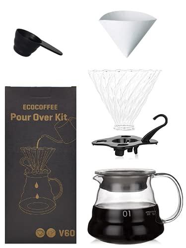 ECOCOFFEE V60 Coffee Kit (Set/Gift Box) – Size 01, 360ml