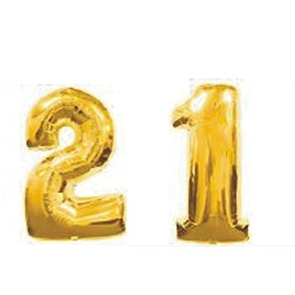 Amazon Grabo Giant 21st Gold Number Balloons Kitchen Dining