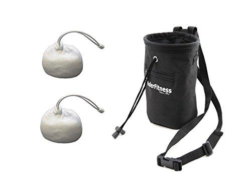 Gym Chalk Ball with Chalk Bag- Climbing, Lifting Weight, Gymnastics and Workout (2 chalk ball + Bag) (Basic Chalk Bag)
