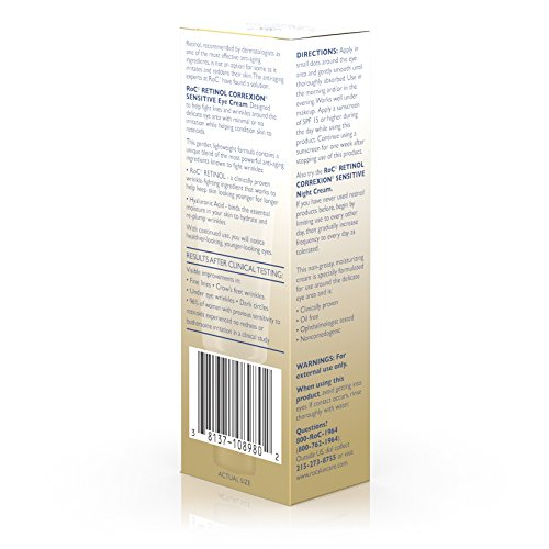 Roc Retinol Correxion Sensitive Skin Eye Cream, .5 Oz
