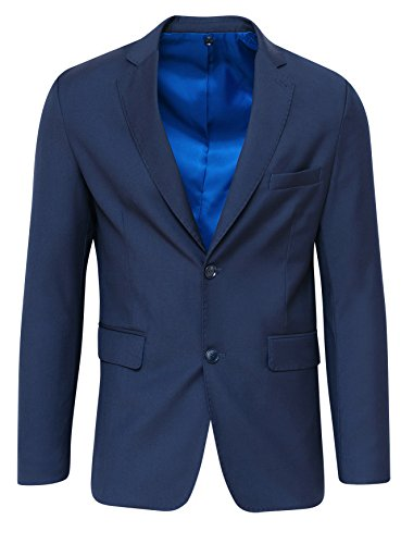 Uomo Blazer Formale Scuro Elegante Blu Sartoriale Giacca Cerimonia FUxqdw4FnX
