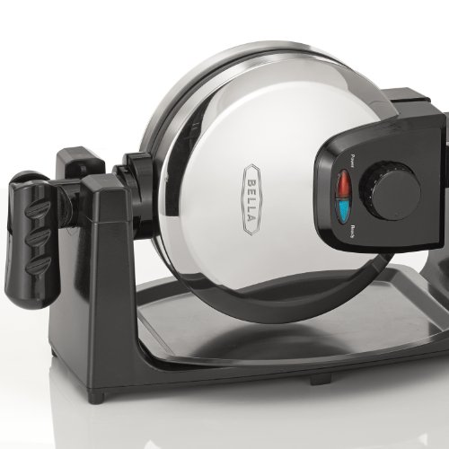 BELLA 13991 Classic Rotating Belgian Waffle Maker, Polished Stainless Steel by BELLA (Image #3)