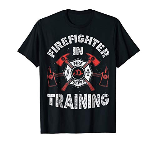 (Firefighter in Training T shirt Fireman Kids Boys Girls)