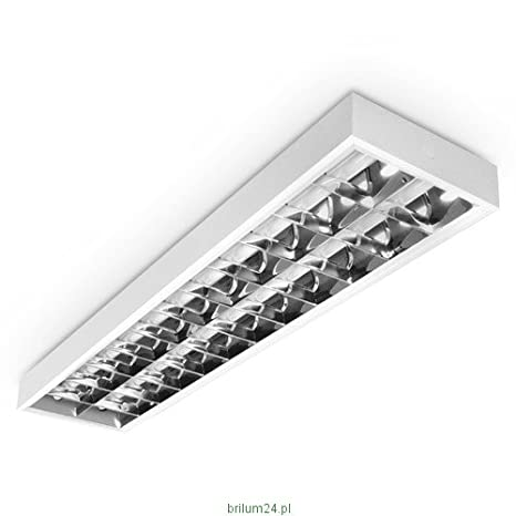 LED Rasterleuchte, LED Einbauleuchte, Rastereinlegeleuchte, LED Bürolampe, 2x20W T8 LED, Schnellmontage, Deckenleuchte, Bürobeleuchtung (OHNE T8 Leuchtmittel) [Energieklasse A+] LED Bürolampe LumenTEC