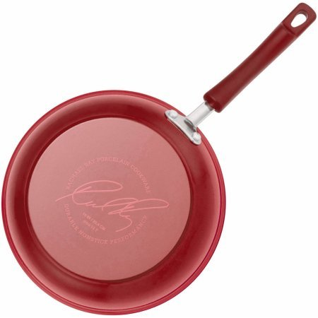 Rachael Ray 15-Piece Hard Enamel Nonstick Cookware Set (Red)