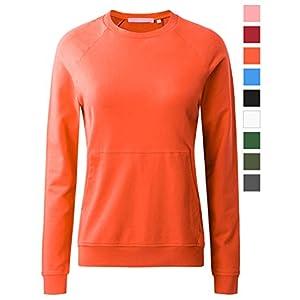 Regna X Women's Crewneck Long Sleeve Pullover Sweatshirt (Basic & Kangaroo Pocket Style, S 3X)