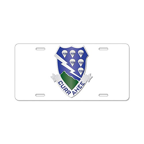CafePress - DUI - 1st Bn - 506th Infantry Regt Aluminum Licens - Aluminum License Plate, Front License Plate, Vanity Tag - Infantry License Plate